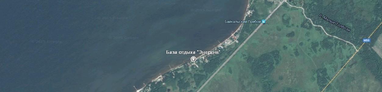 Карта проезда до базы отдыха Энергия
